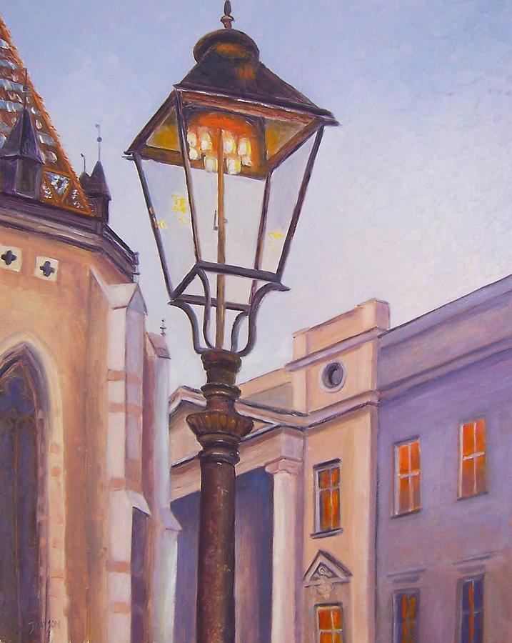 Zagreb Painting - Zagreb Gaslight - Croatia by Jan Matson