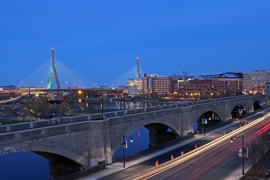Boston Photograph - Zakim Bridge And Td Garden by Juergen Roth