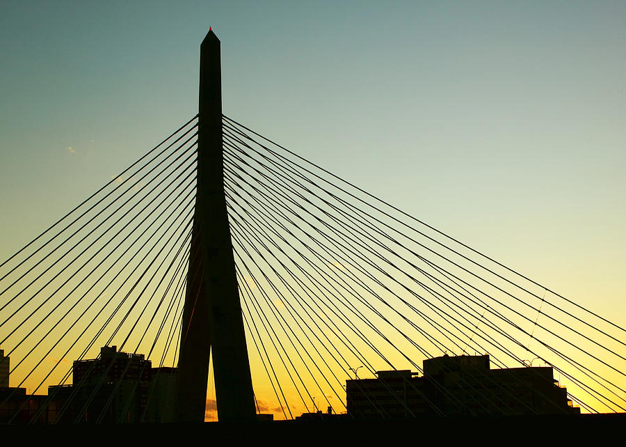 Zakim Bridge Silhouette Photograph By Nikolyn Mcdonald