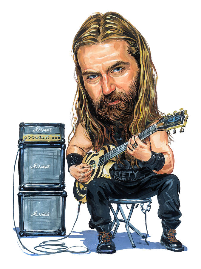 Zakk Wylde Painting - Zakk Wylde by Art