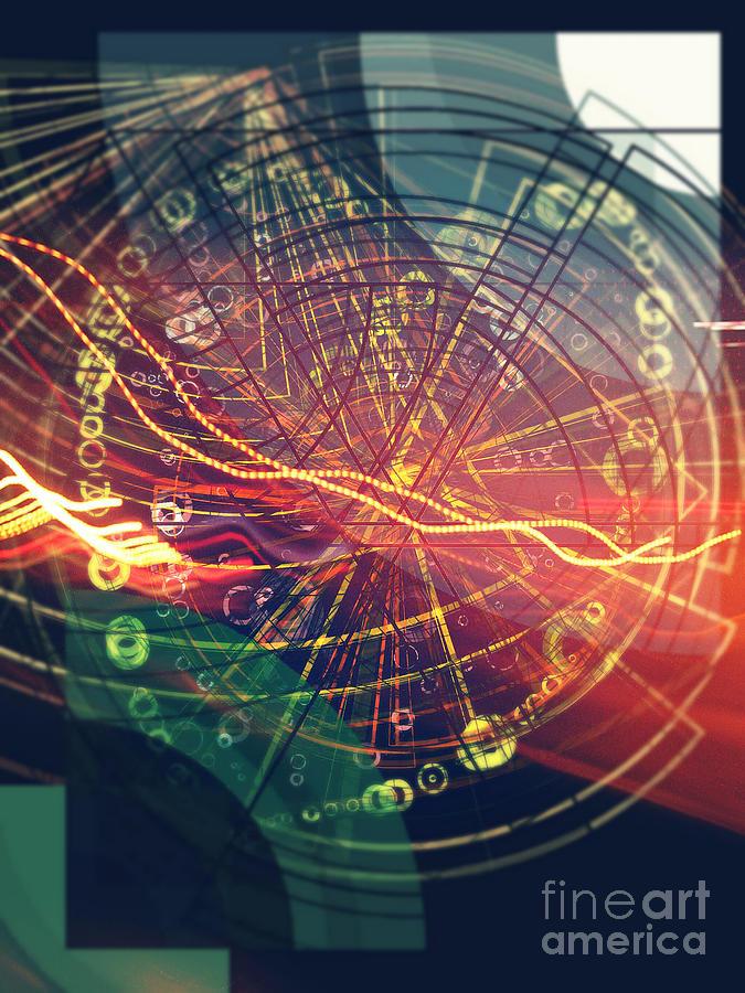 Electric Digital Art - Zap by Jose Benavides