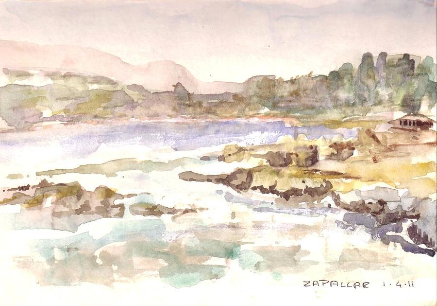 Zapallar Painting by David  Hawkins