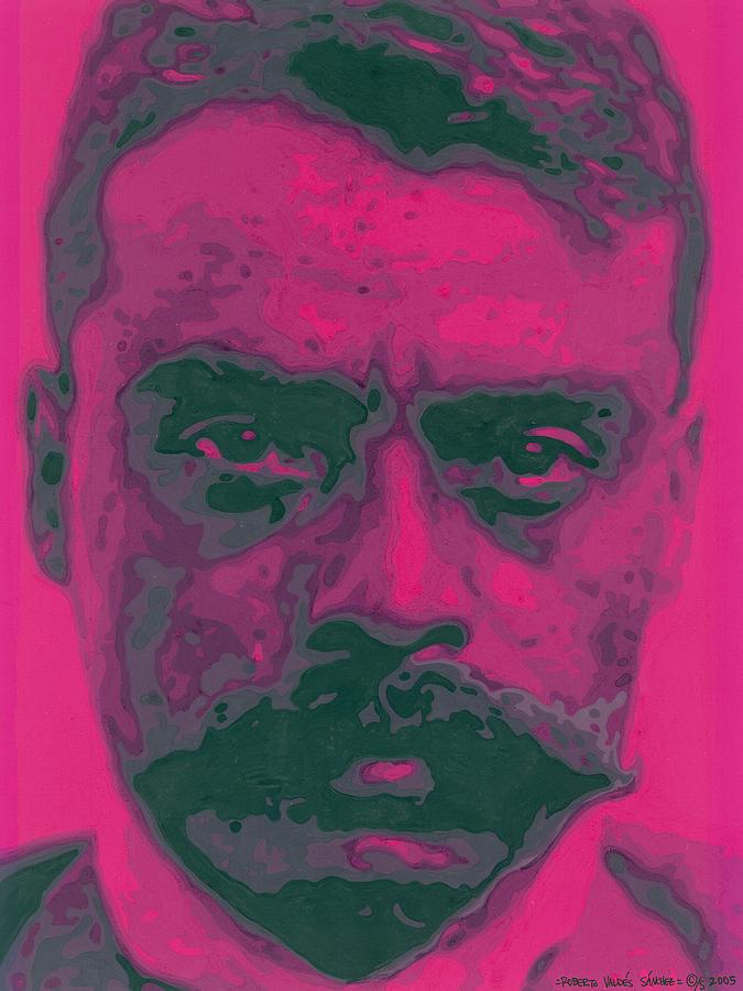 Emiliano Zapata Painting - Zapata Intenso by Roberto Valdes Sanchez