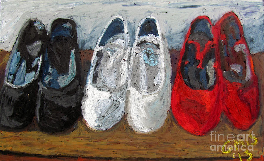 Flamenco Painting - Zapatos De Flamenco by Greg Mason Burns