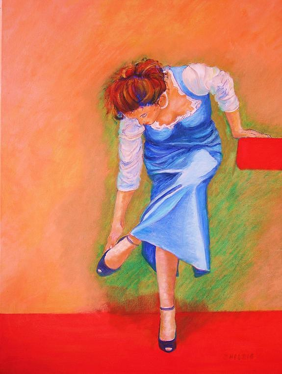 Girl Painting - zapatos I by Dagmar Helbig