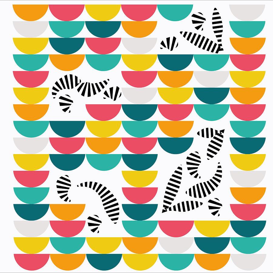 Colorful Digital Art - Zcraze by Kenneth Feliciano