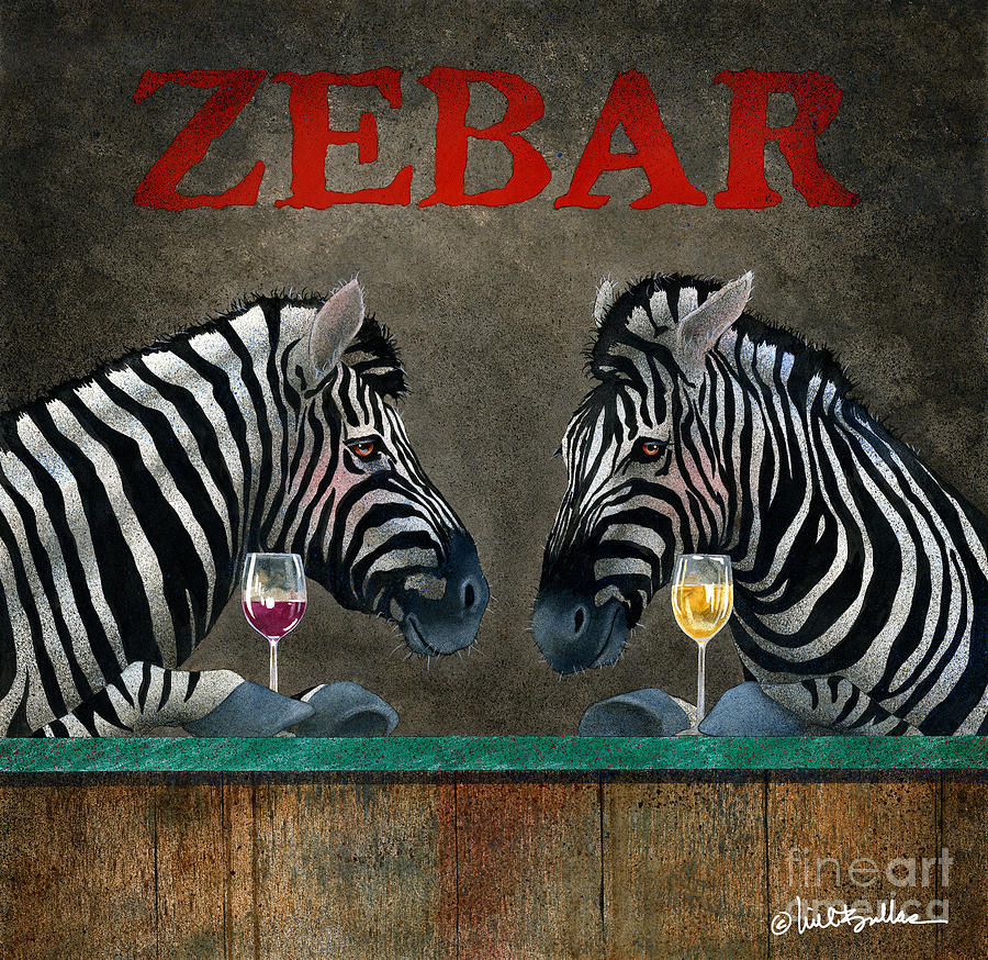 Will Bullas Painting - Zebar... by Will Bullas