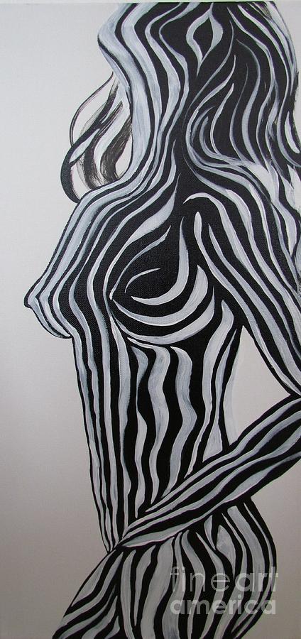 Zebra Body Paint Painting By Mandy Joy