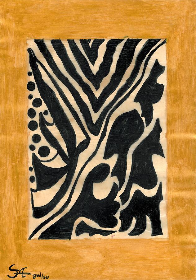 Zebra Painting - Zebra by Carla Sa Fernandes