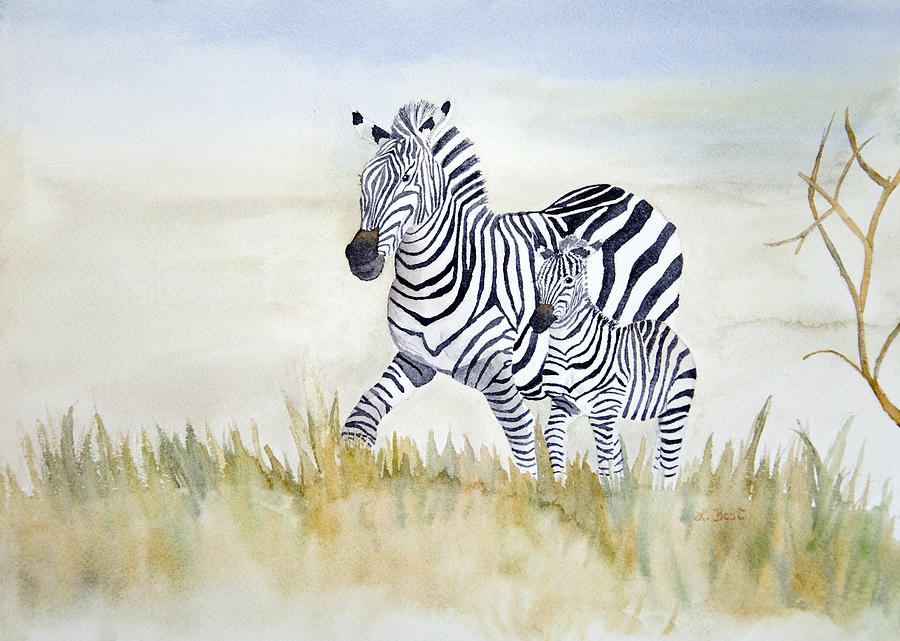 Zebra Family by Laurel Best