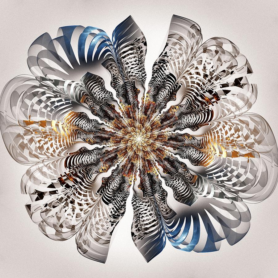 Flower Digital Art - Zebra Flower by Anastasiya Malakhova