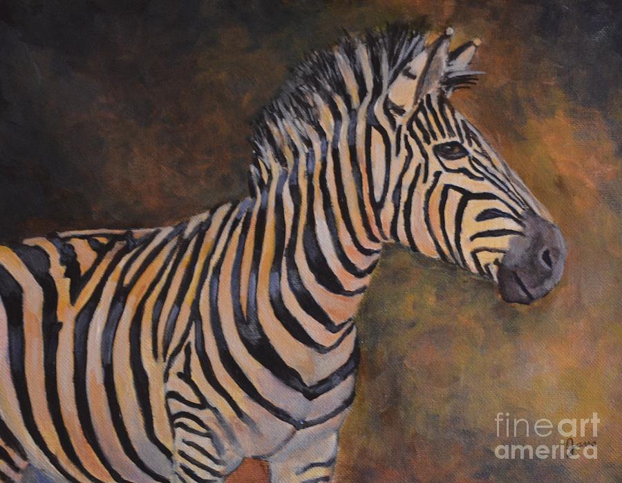 Zebra Painting - Zebra by Jana Baker