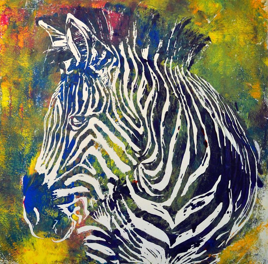 zebra look digital art by beth mccall. Black Bedroom Furniture Sets. Home Design Ideas