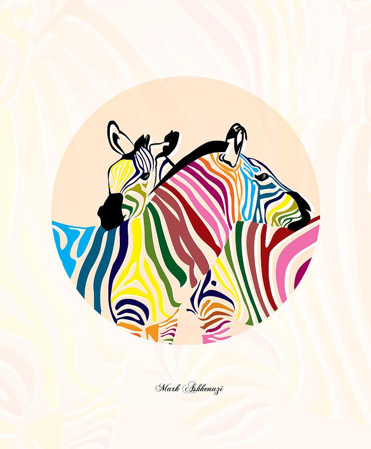 Zebra  Digital Art - Zebra  by Mark Ashkenazi