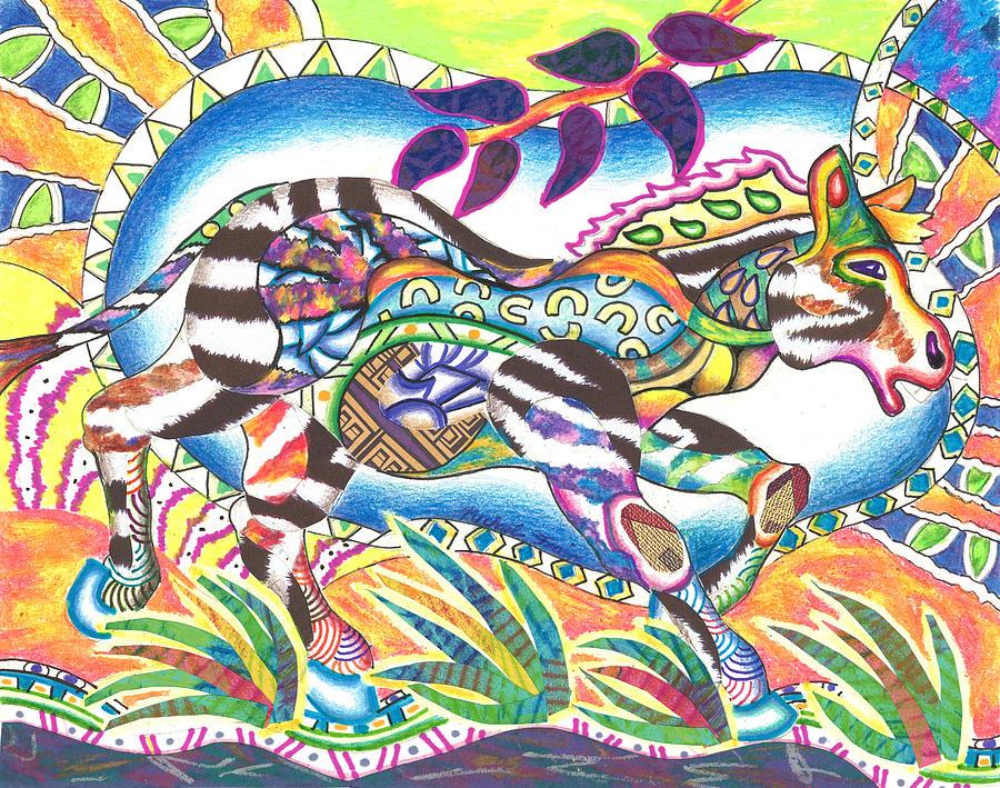 Zuri - Zebra by Michael Andrew Frain