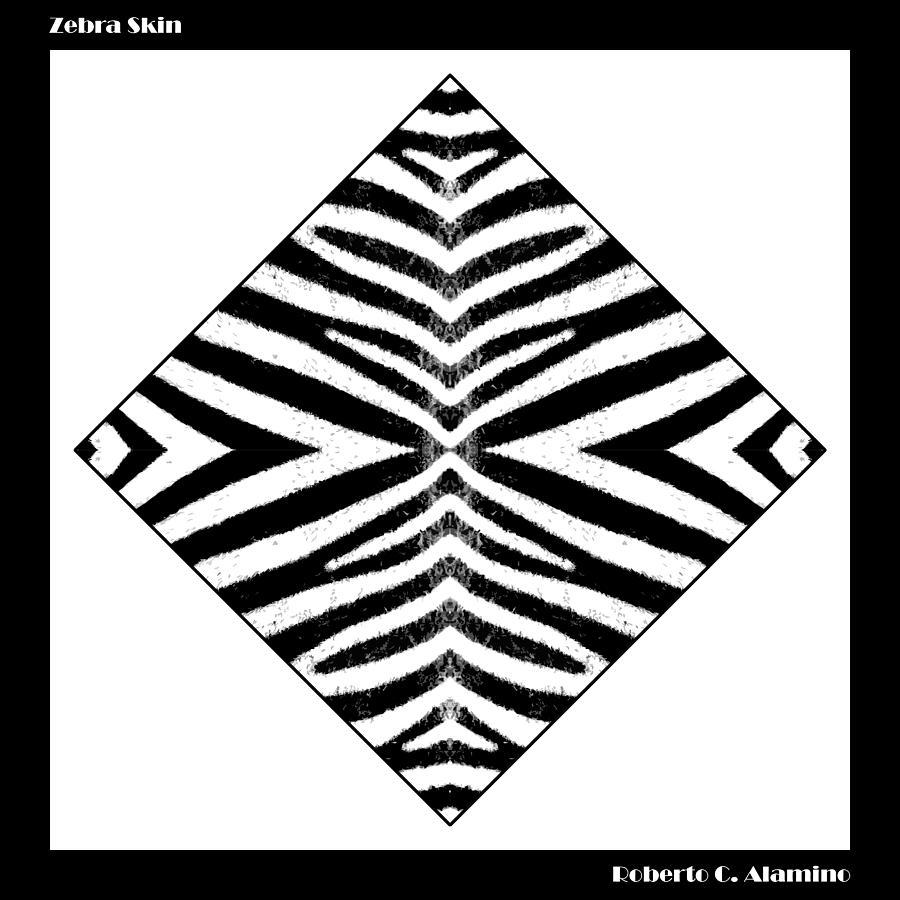 Zebra Digital Art - Zebra Skin by Roberto Alamino