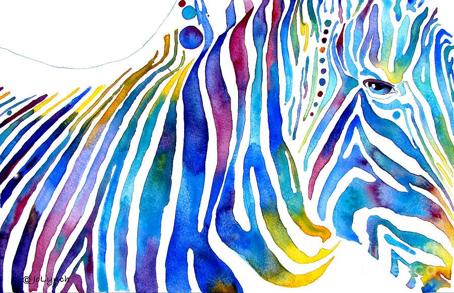 Zebra Painting - Zebra Stripes by Jo Lynch