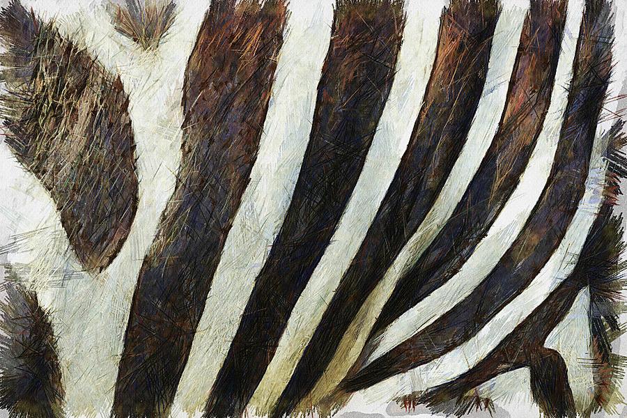 Zebra Painting - Zebra Texture by Ayse Deniz