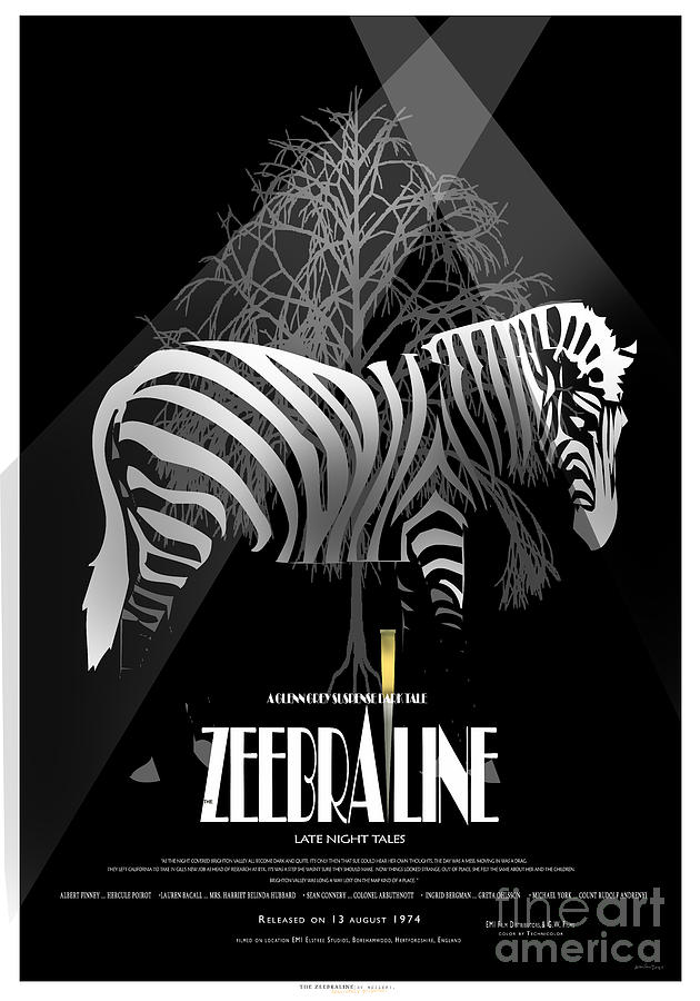 Zebraline Movie Poster Classic A Tribute To Ageth  Mixed Media by Weiler WEILER