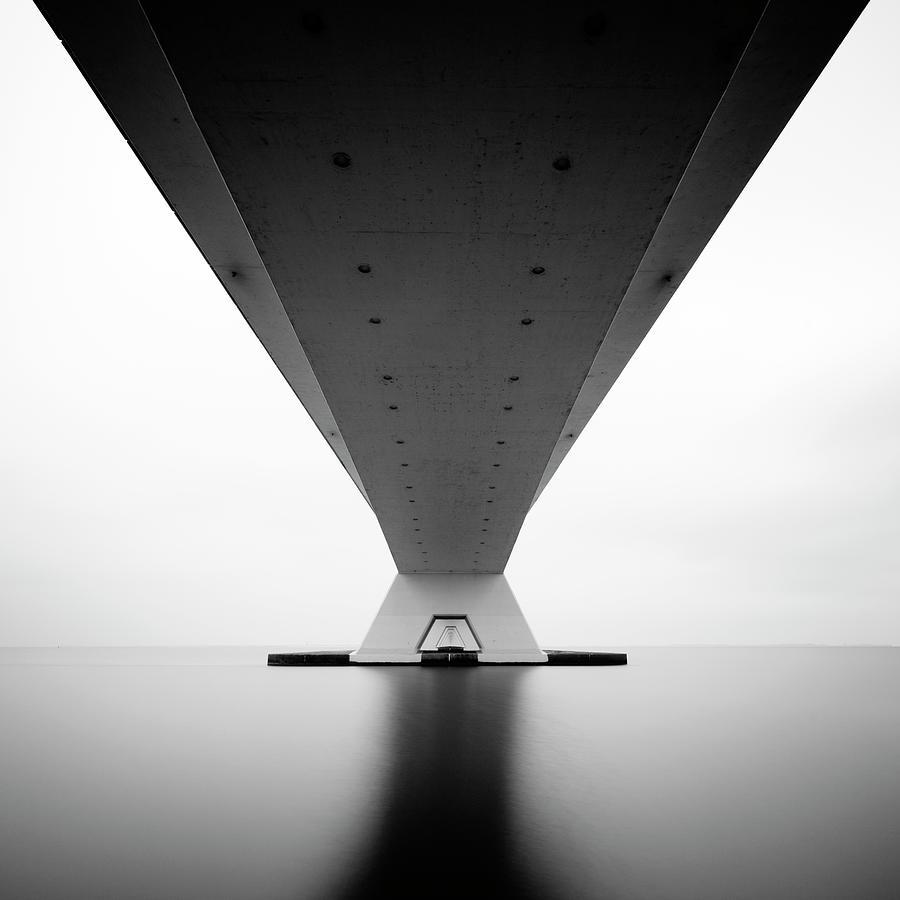 Bridge Photograph - Zeeland Bridge by Steve Cheetham
