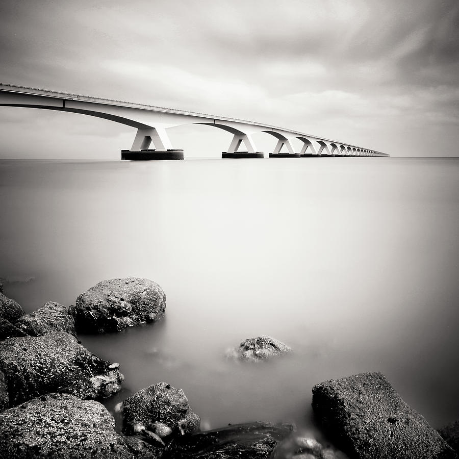 Zeeland Photograph - Zeelandbridge II by Nina Papiorek