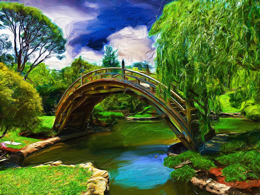 Artwork Digital Art - Zen Bridge by Cary Shapiro
