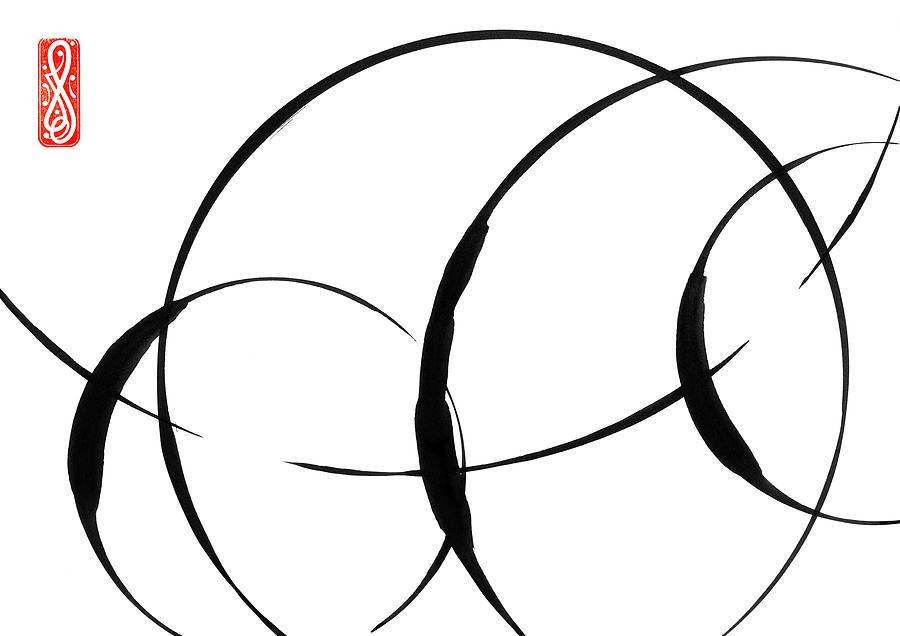 Zen Painting - Zen Circles 3 by Hakon Soreide