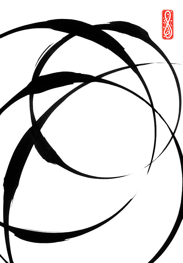 Zen Painting - Zen Circles 4 by Hakon Soreide