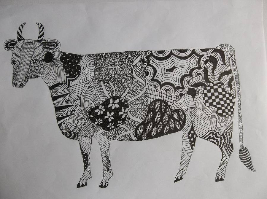 Zen Cow by Audrey Bunchkowski