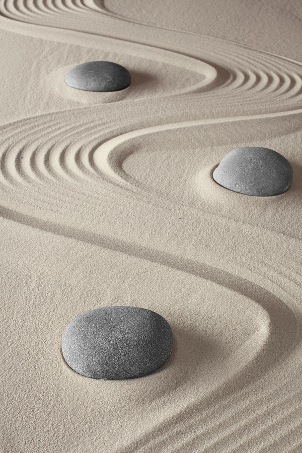 Abstract Photograph - Zen Garden by Dirk Ercken