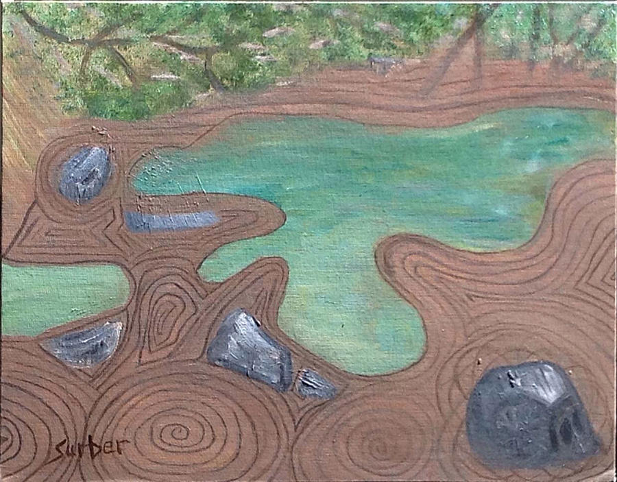 Shapes Painting - Zen Garden by Suzanne Surber