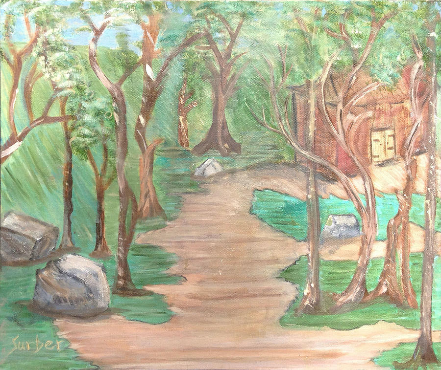 House Painting - Zen House by Suzanne Surber