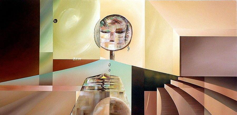Fragmentation Painting - Zen by Laurend Doumba
