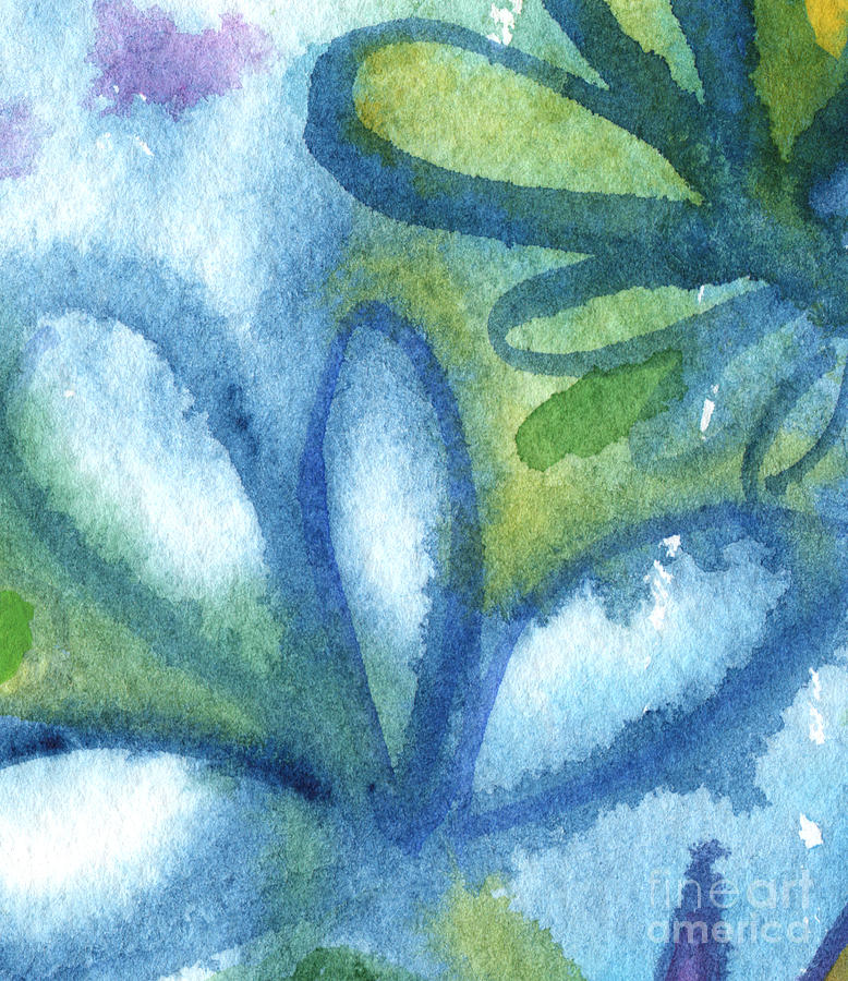 Abstract Painting - Zen Leaves by Linda Woods