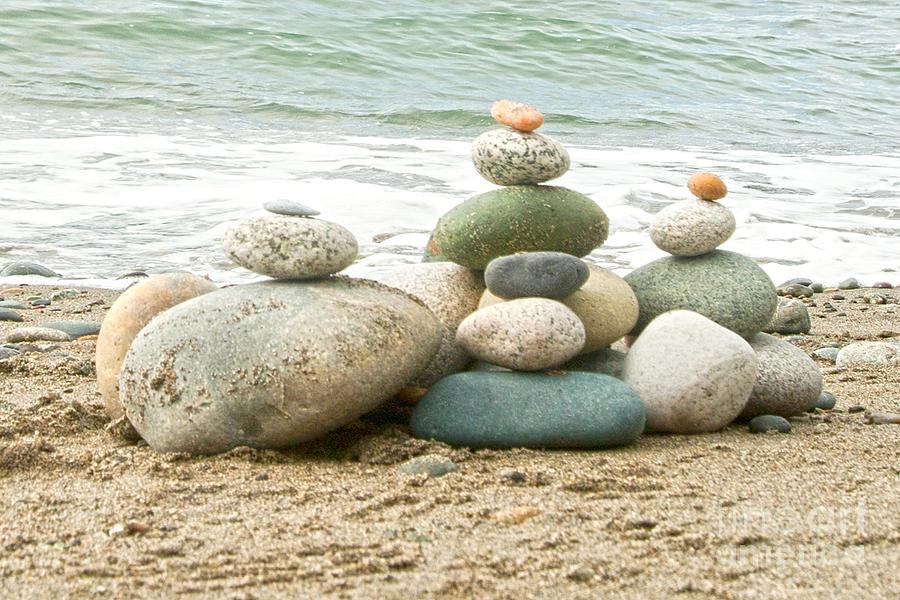 Rocks Photograph - Zen Meditation Balance by Artist and Photographer Laura Wrede