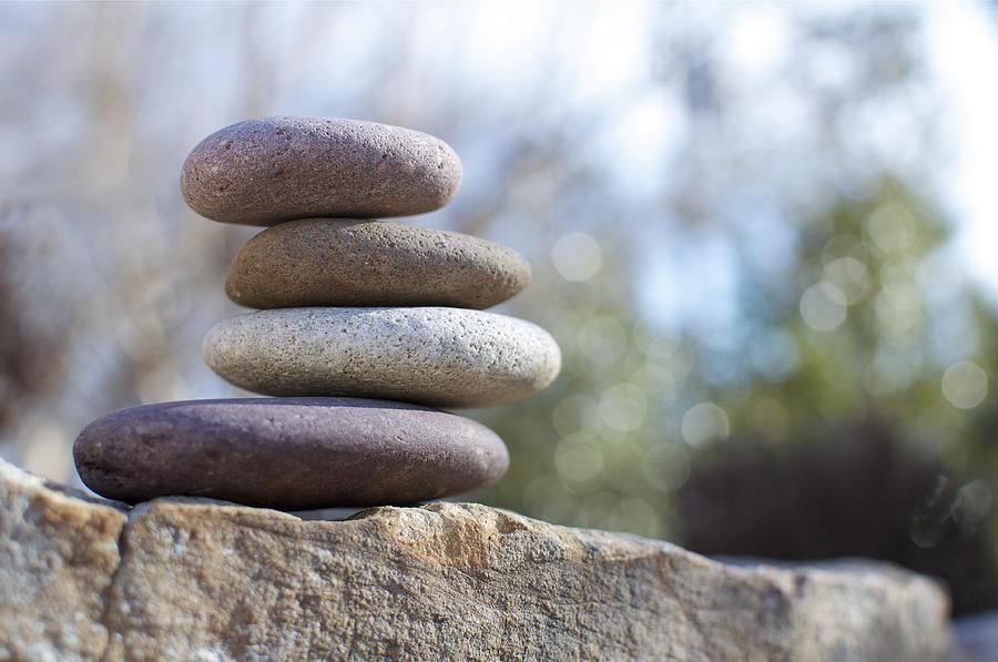 Zen Photograph - Zen Stones by Ben ONeal
