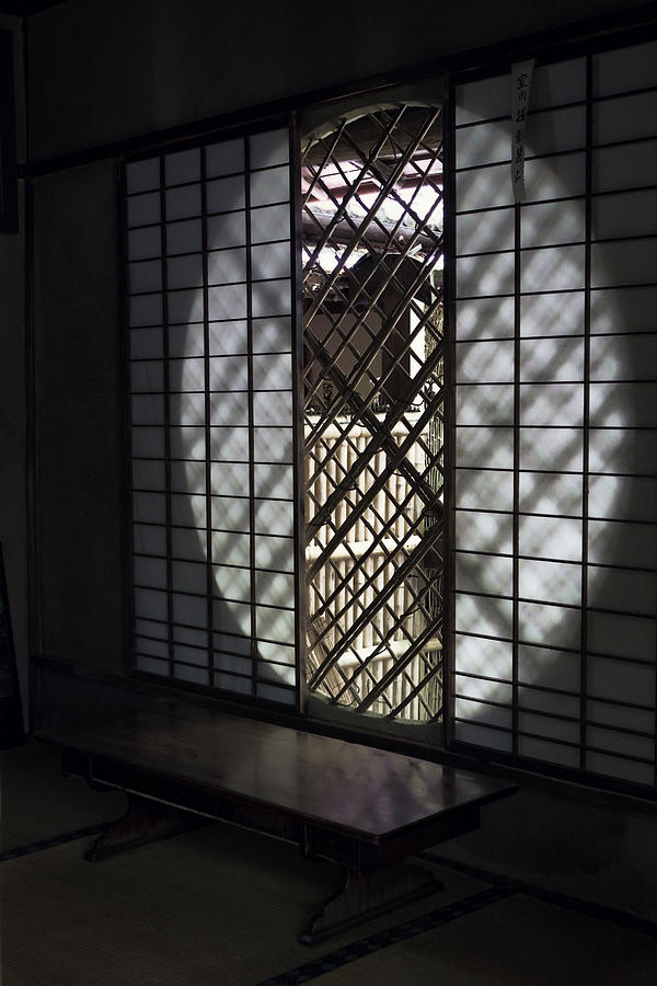 Window Photograph - Zen Temple Window - Kyoto by Daniel Hagerman