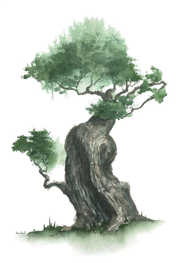 Zen Painting - Zen Tree 1000 by Sean Seal
