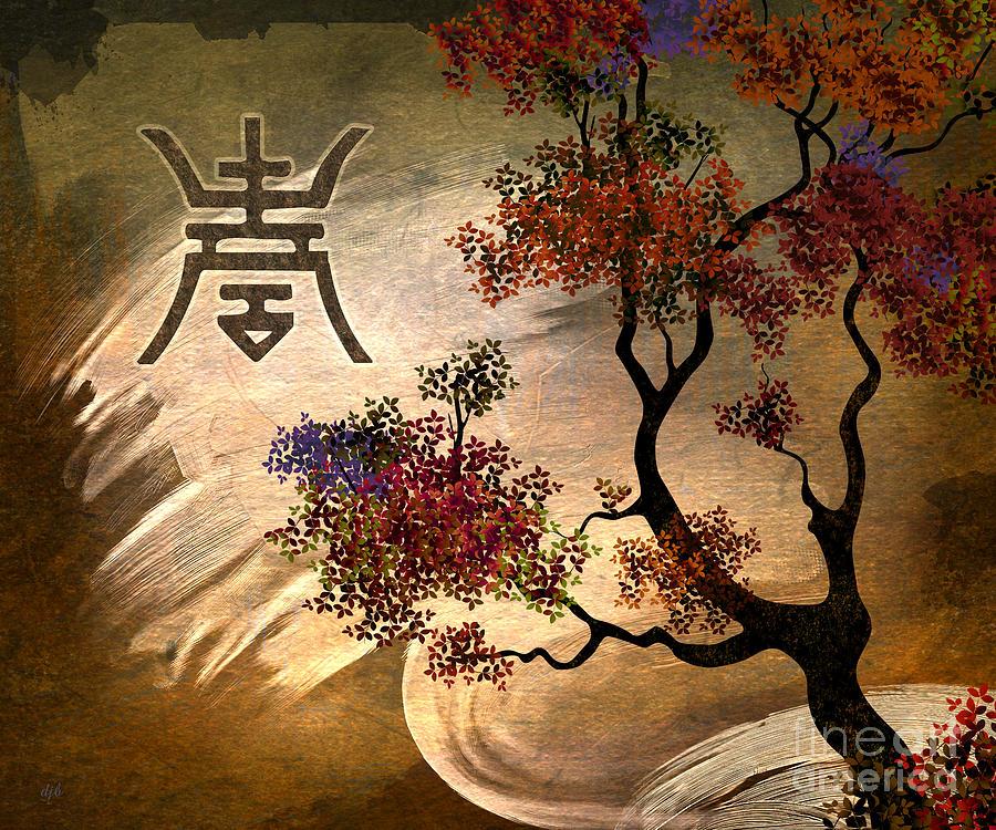 Zen Tree Digital Art By Peter Awax