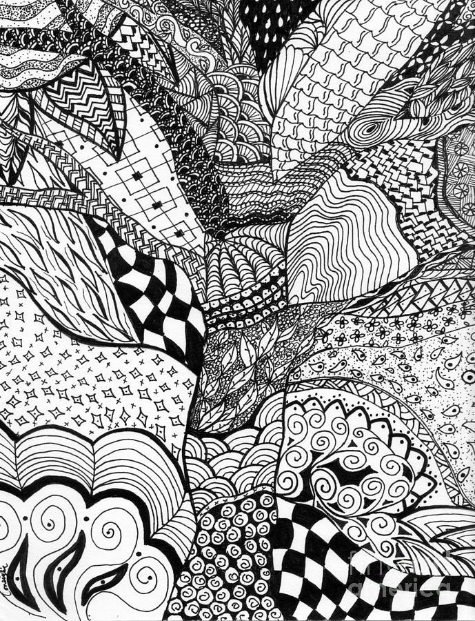 Zen Line Drawing : Zen tree drawing by celia fedak