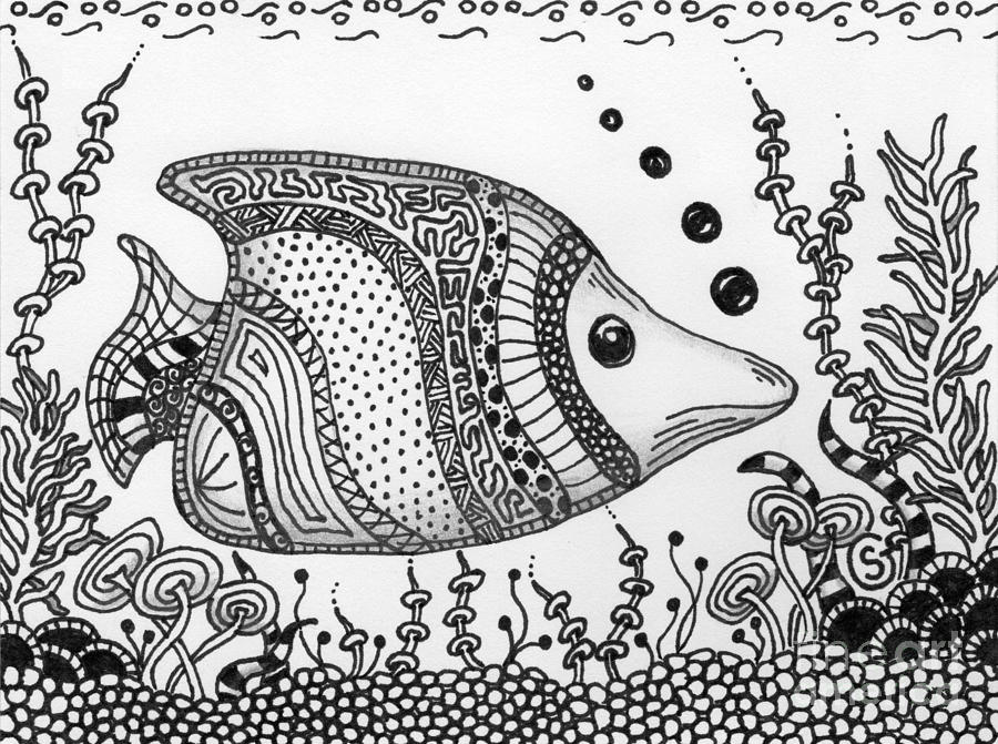Zentangled Fish Just Cruisin Sherry Goeben moreover Drawing additionally Gallery besides Bridge Of Sighs in addition Pen And Ink Illustrations Sports. on stipple drawing