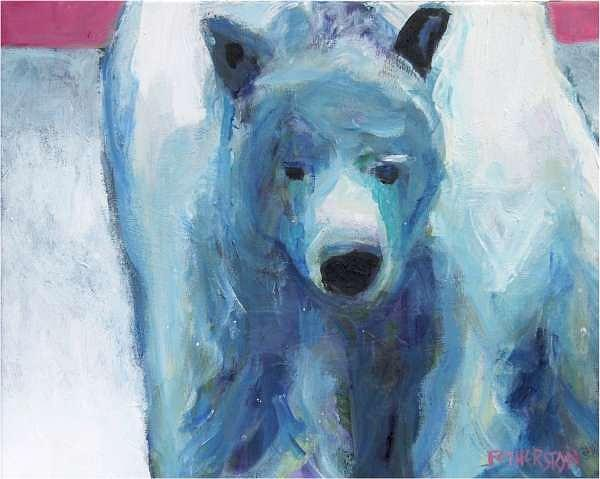 Polar Bear Painting - Zero Five Jimmy by Dominic Fetherston