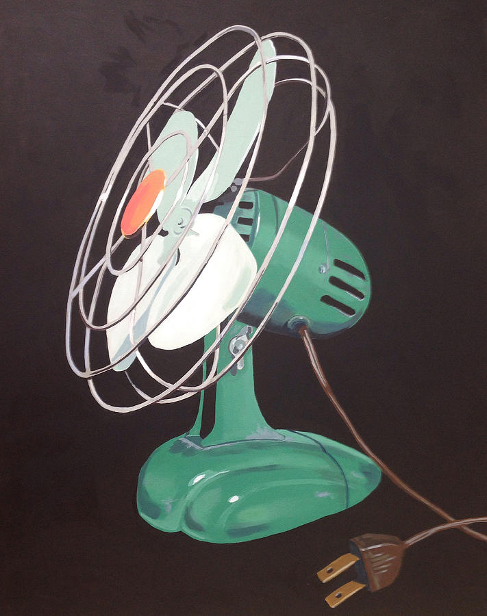 Vintage Painting - Zero Vintage Fan by Jeffrey Bess