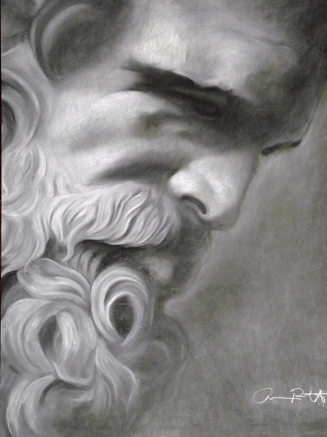 Zeus Drawing By Adrian Pickett Jr