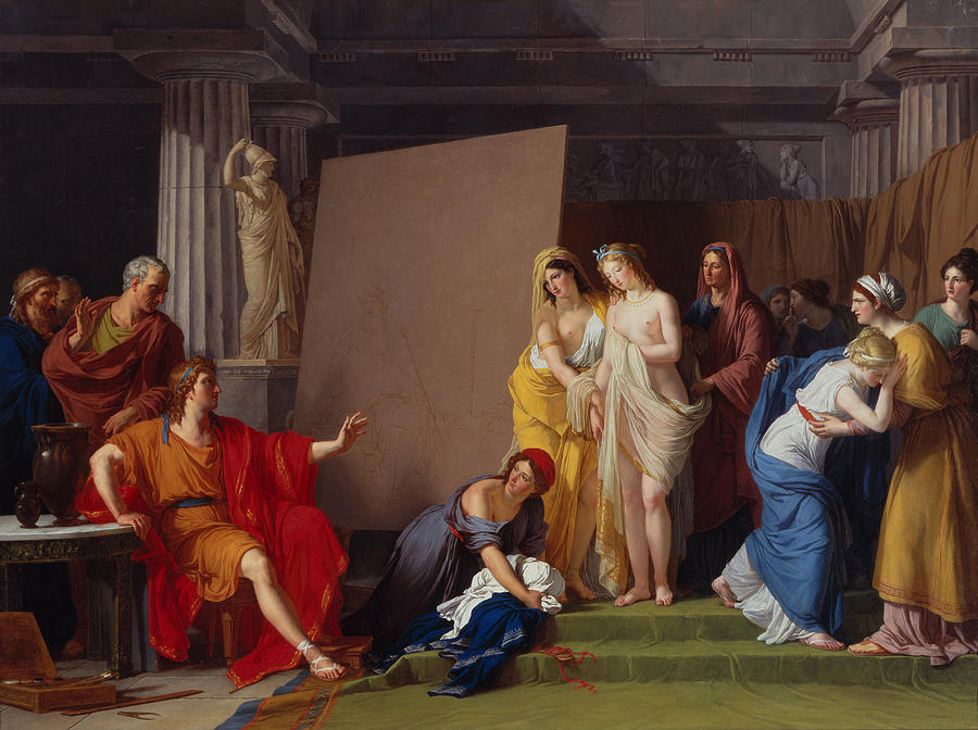 Ancient Greece Painting - Zeuxis Choosing His Models For The Image Of Helen From Among The Girls Of Croton by Francois-Andre Vincent