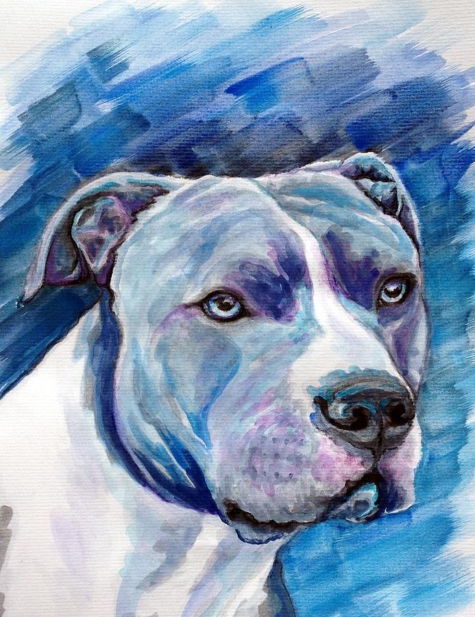 Dog Painting - Ziggy by Ashley Kujan