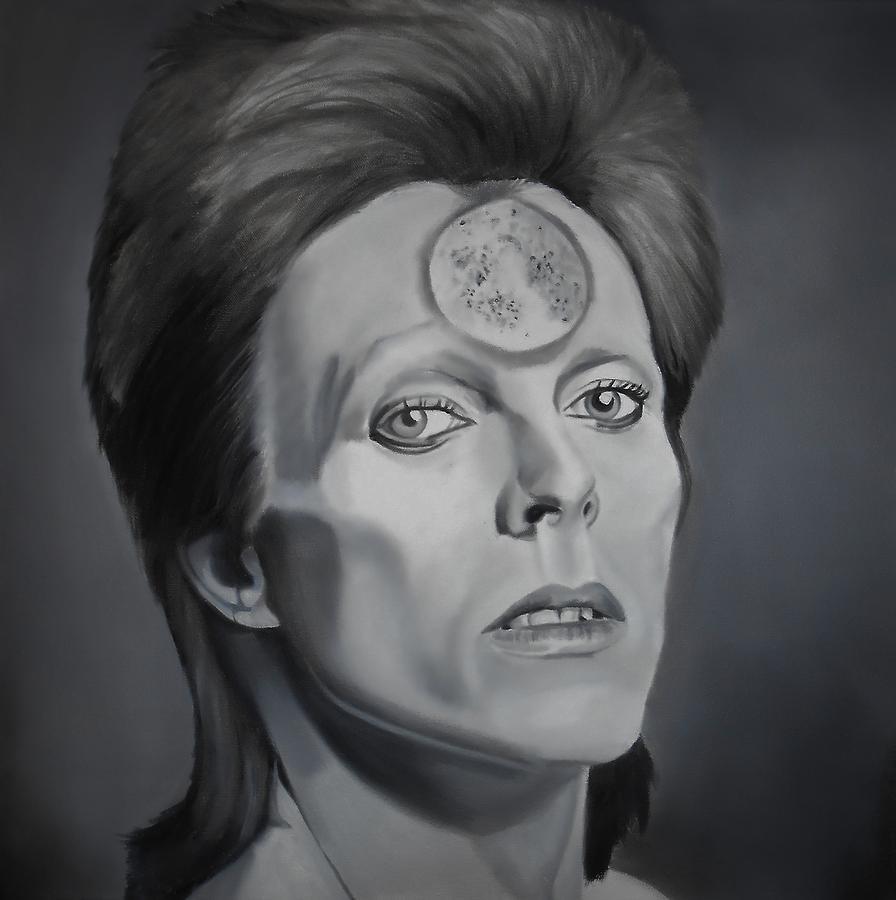 David Painting - Ziggy Stardust by Brian Broadway