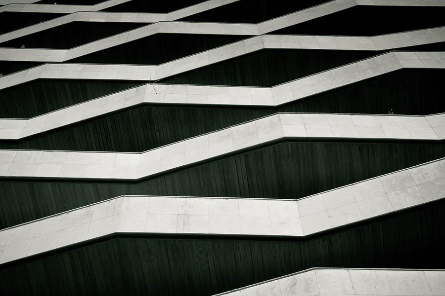 Zigzag Balconies In Building Photograph by David Buedo
