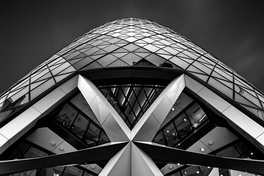 London Photograph - Zigzag (the  Gherkin) by Ahmed Thabet