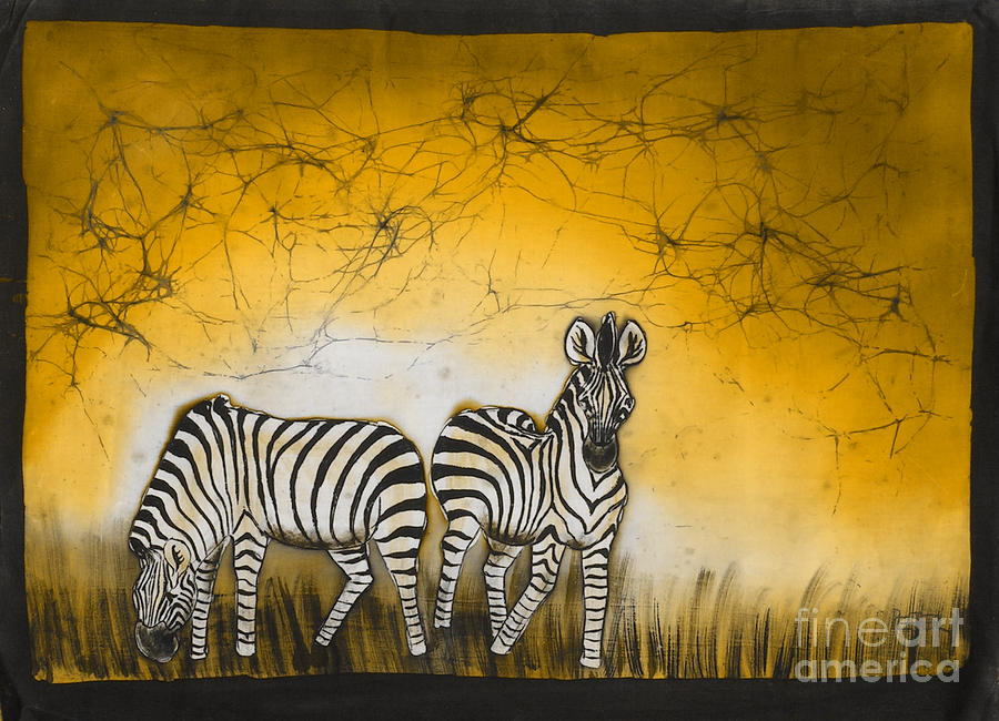 African Painting - Zimbras Brown Sky by Peter Mkoweka
